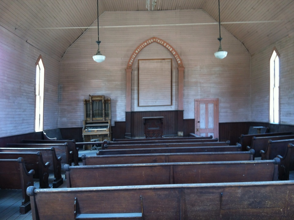 Inside of the Methodist Church