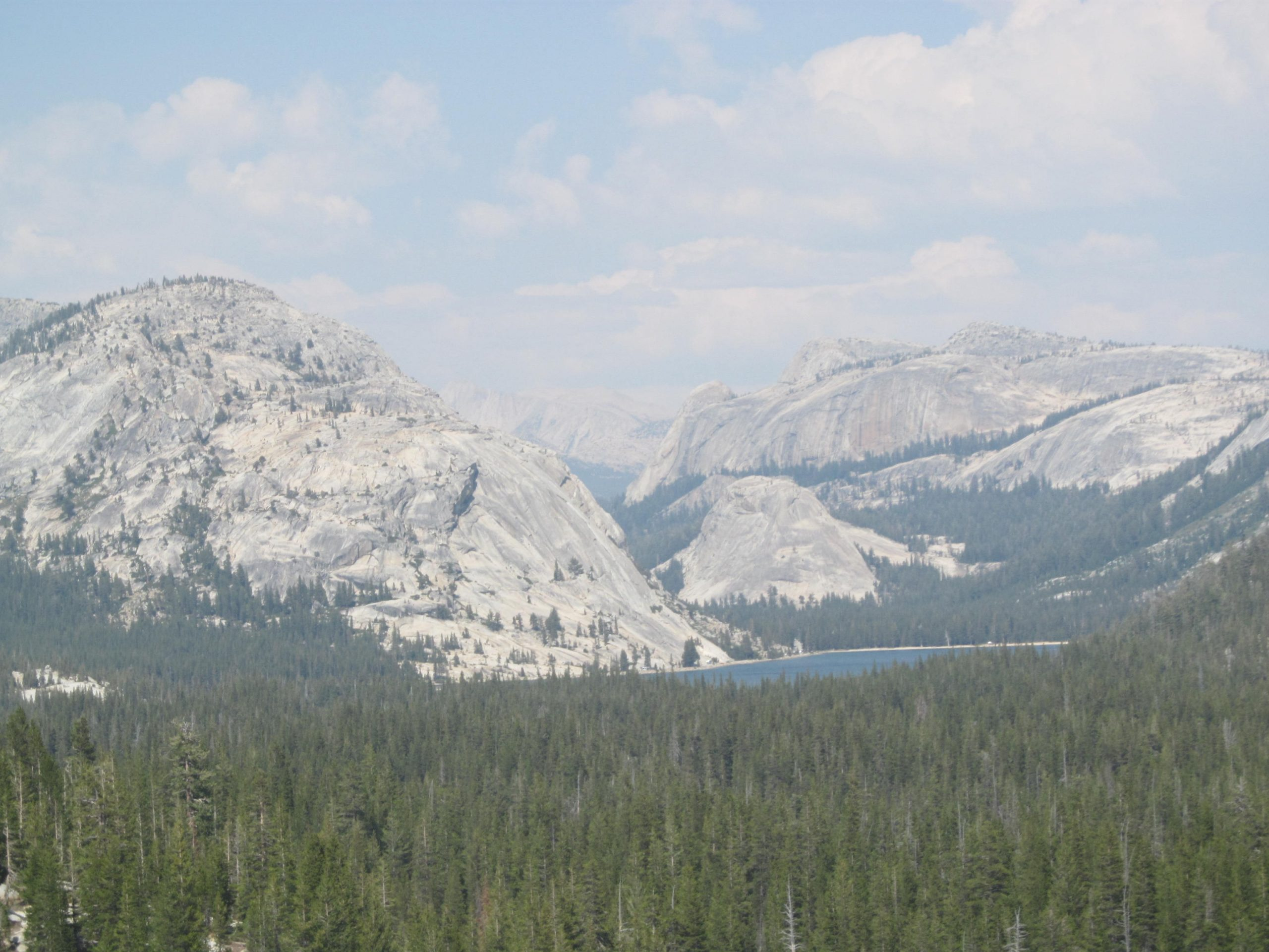 Leaving Yosemite, traveling east on Tioga Pass