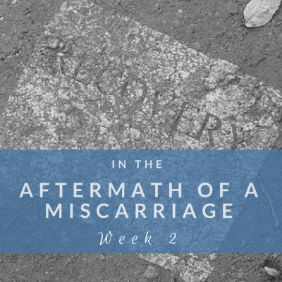 In the Aftermath of a Miscarriage: Week 2