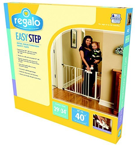 regalo easy step walk thru gate + must have baby gear list for baby's 1st year