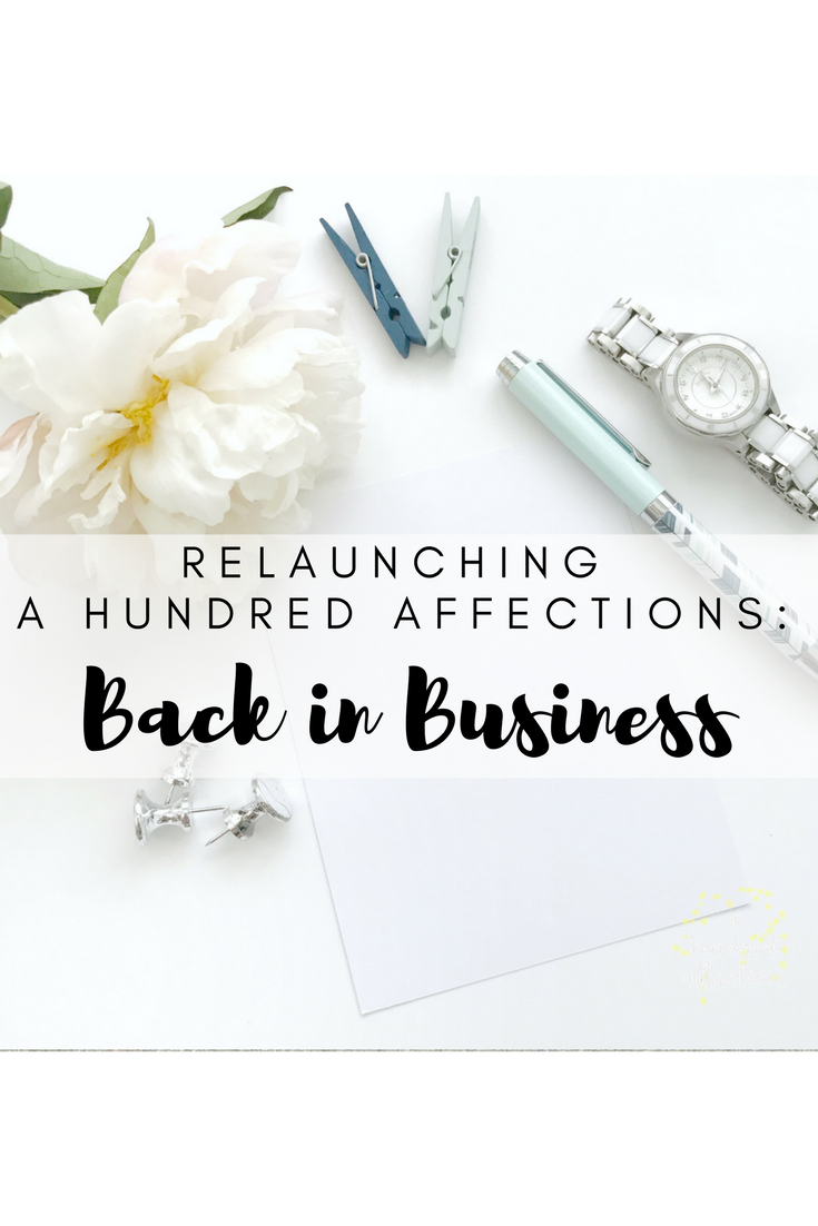 a hundred affections back in business