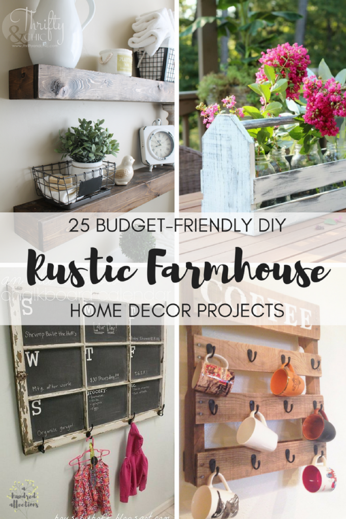 Perfect ... Budget Friendly DIY Rustic Farmhouse Home Decor Projects! Iu0027m Typically  Late To The Game To Catch On To Things That Are Trending. If You Can  Believe It, ...