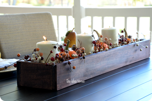 fall centerpiece - If you need some inspiration for decorating your home for fall, we've got you covered!  Inside you'll find beautiful ideas for decorating your mantel and fireplace area, your outdoor front porch, and your kitchen and dining area.