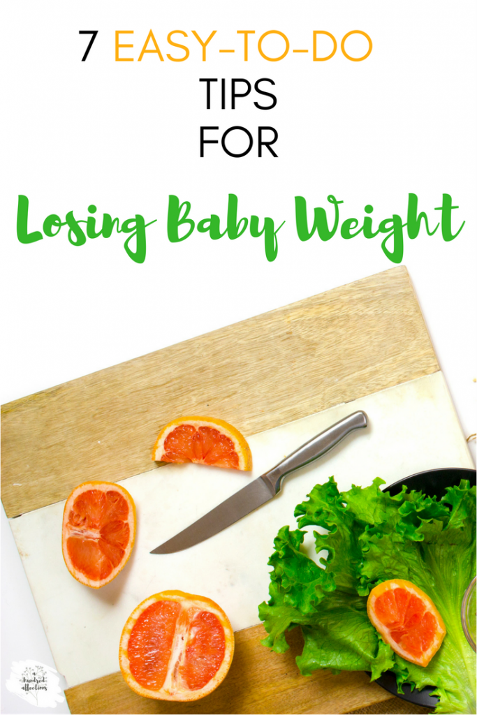 7 easy-to-do tips for losing baby weight