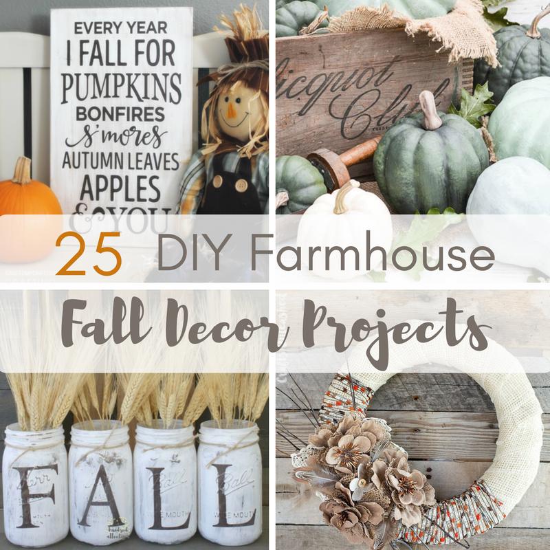 25 DIY Farmhouse Fall Decor Projects