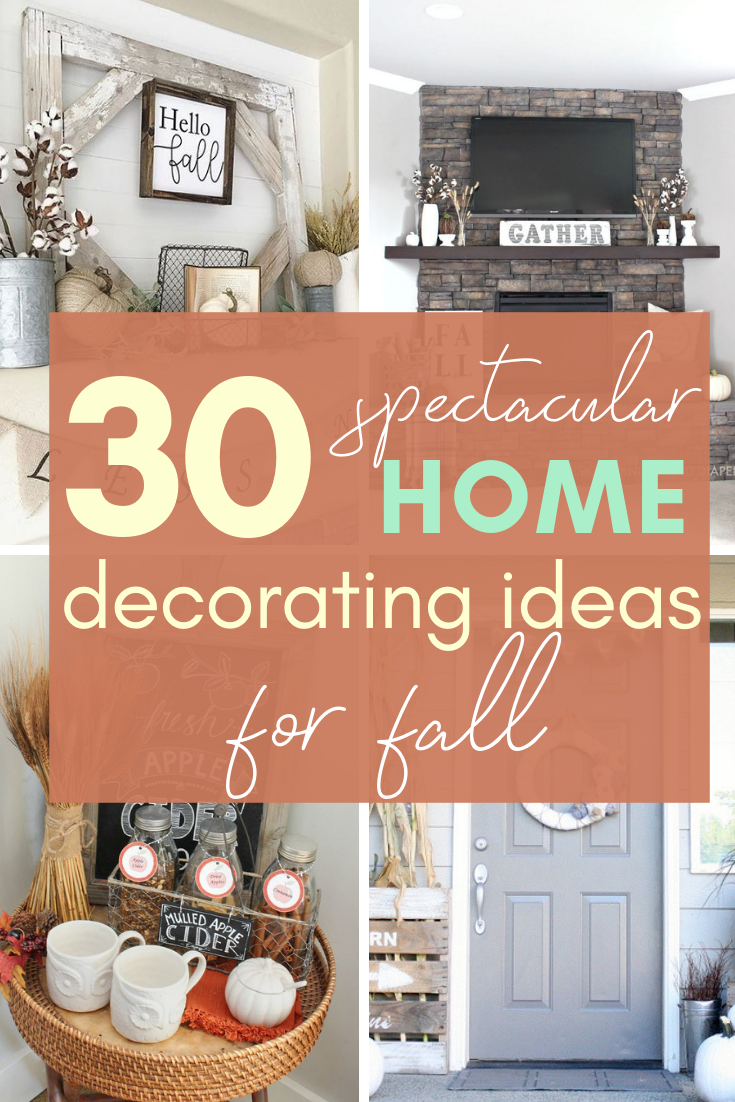 If you need some inspiration for decorating your home for fall, we've got you covered!  Inside you'll find beautiful ideas for decorating your mantel and fireplace area, your outdoor front porch, and your kitchen and dining area.