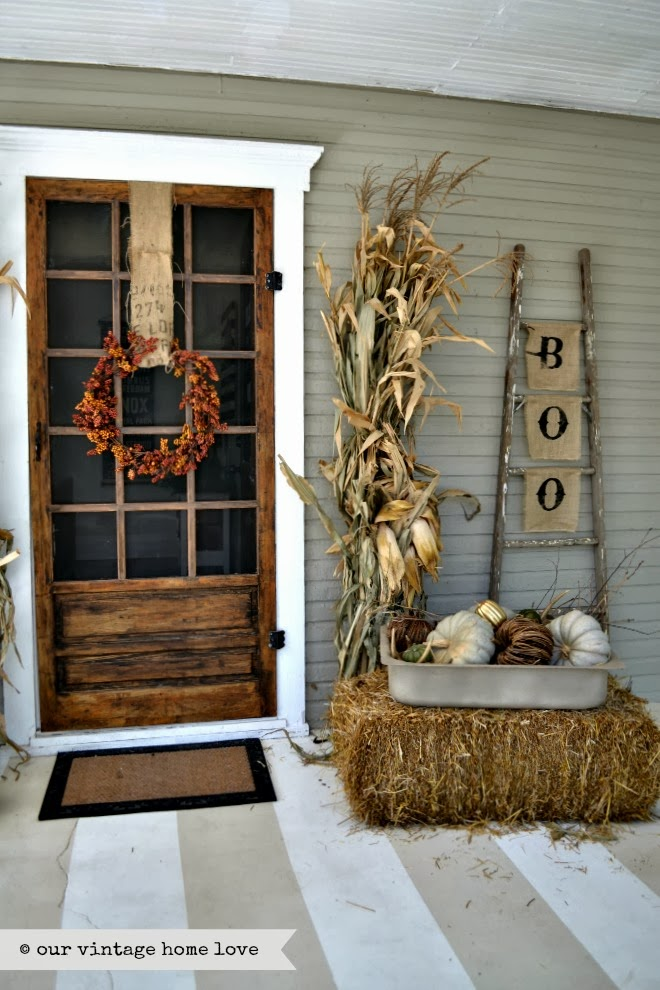 rustic farmhouse fall porch