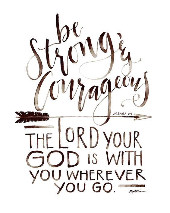 Joshua 1:9 design Be Strong and Courageous