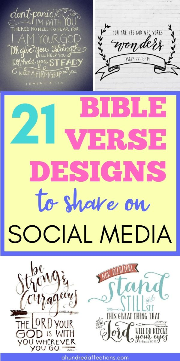 21 Beautiful Bible Verse Designs You Can Share on Social Media - A