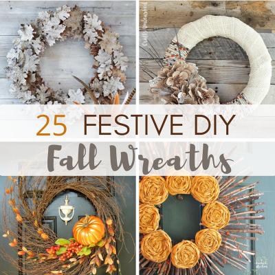 25 Festive DIY Fall Wreaths