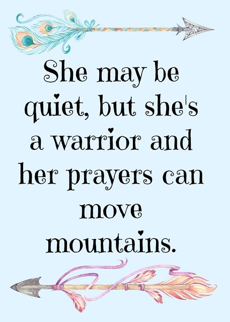 Her prayers can move mountains quote print with peacock arrows.