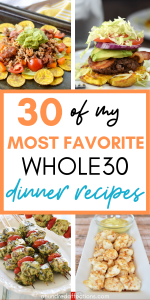 collage Whole30 dinner recipes