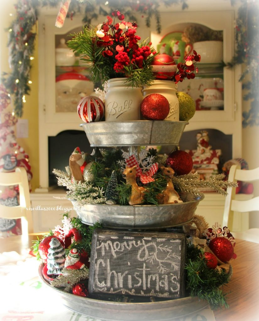 Rustic farmhouse christmas decorating ideas a hundred