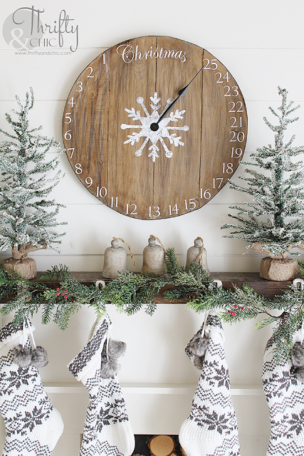 3 diy wood clock christmas advent calendar from thrifty and chic