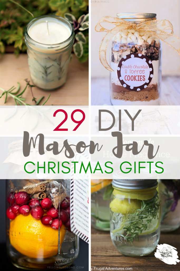 Do you need some quick, easy, inexpensive, trendy and cute Christmas gifts?  We've got you covered with these DIY Mason Jar Gifts! Lots of creative choices- both food and non-food jars- can't go wrong!