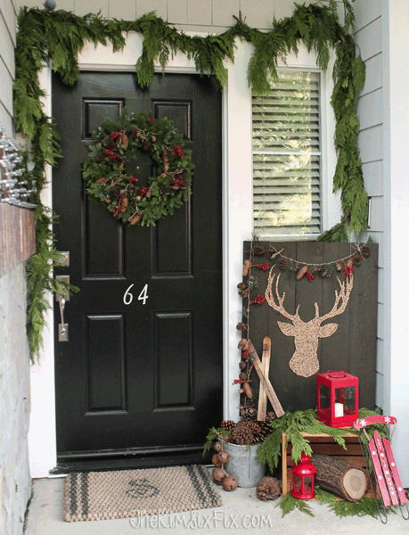 Kim Six Fix, Rustic Winter Christmas FRont Porch - Yay! Christmas! If you