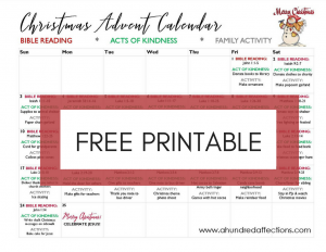 photograph regarding Printable Christmas Calendar identify 40 Exceptional Arrival Calendars + No cost Printable with 70+ Introduction