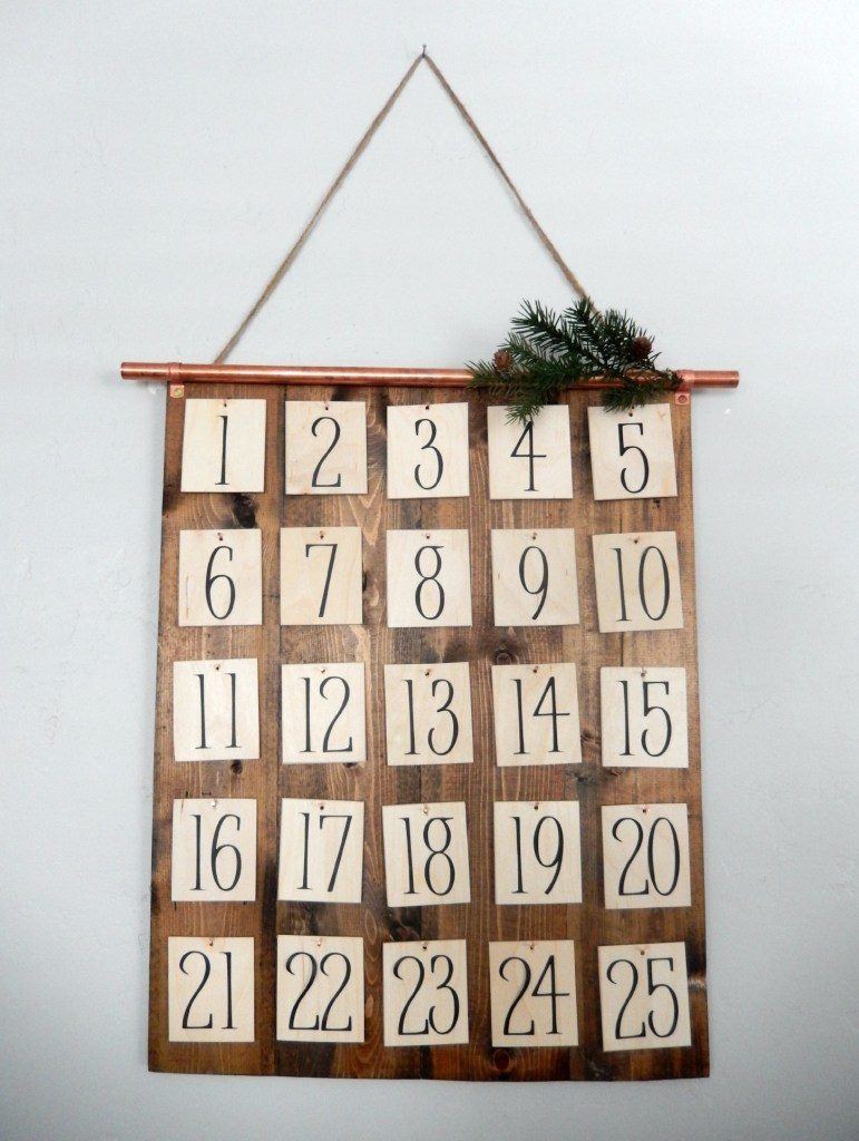 DIY Christmas Advent Calendar, Scroll frame with numbered squares and Christ-centered inserts