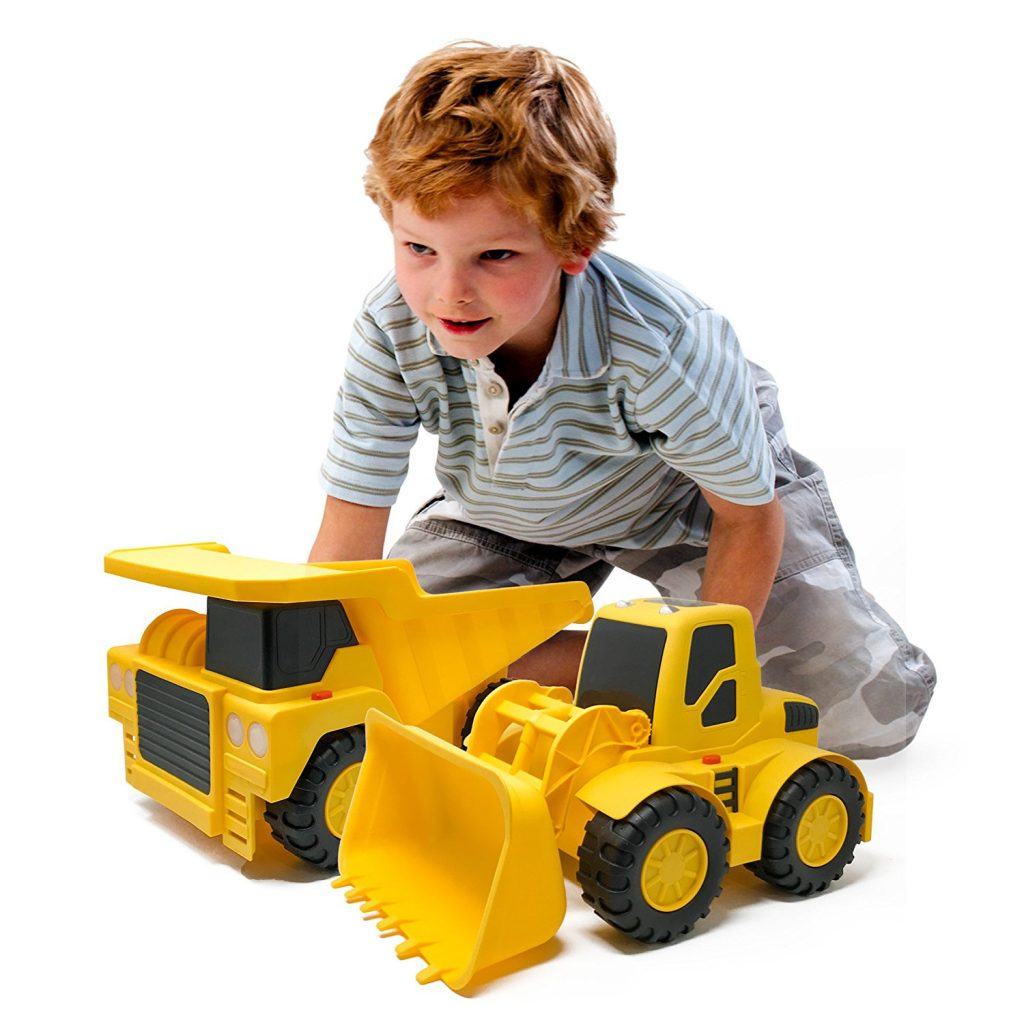 Bulldozer and Dump Truck Construction Toys - the perfect gift for little boys ages 2-4