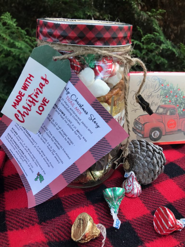 A Gift For Christmas Story.Nativity Christmas Story Trail Mix Free Printable A