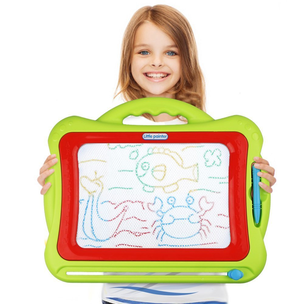 Kids Magna Doodle Erasable Writing Sketch Board (with colors!) - the perfect gift for little boys ages 2-4