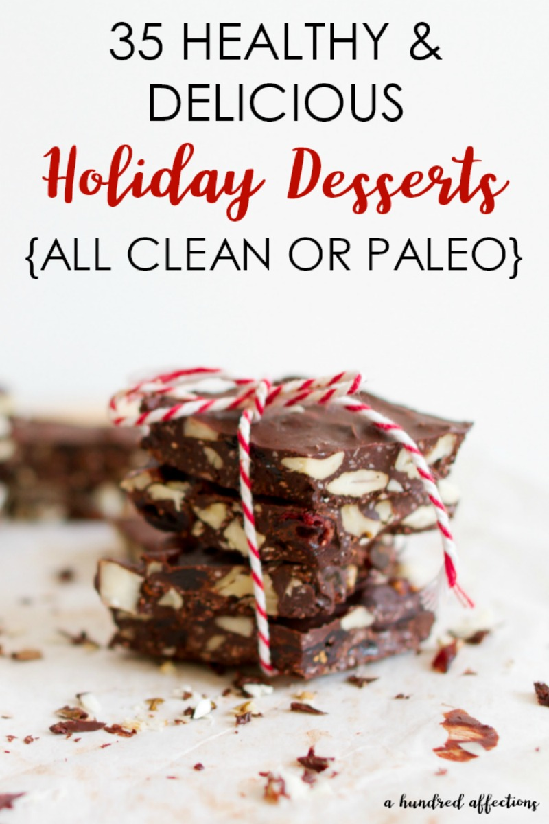Are you hoping to make it through the holidays without packing on a few extra pounds? These Healthy and Delicious Holiday Dessert Recipes can help! You can still enjoy the yummy treats while still keeping an eye on your waistline! All recipes are either clean or Paleo!