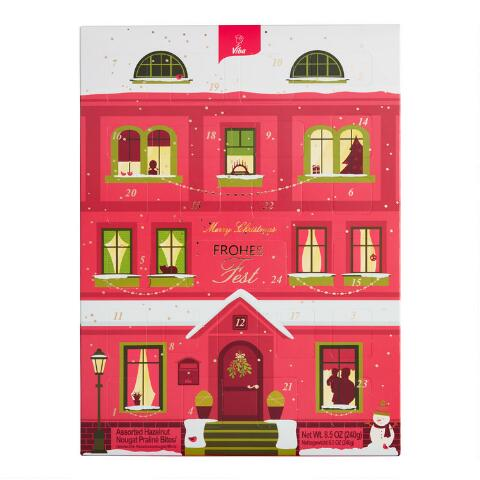 Viba Nougat Red House Advent Calendar from World Market