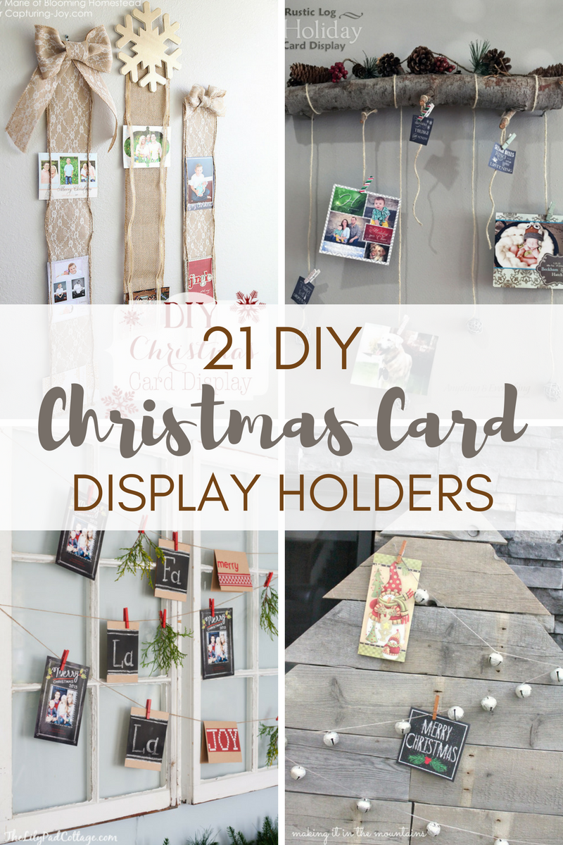 Are piles of Christmas cards taking up valuable real estate in your house?  Here are 21 super-cute DIY Christmas Card Display Holders - the perfect way to display meaningful cards in a stylish, festive way!