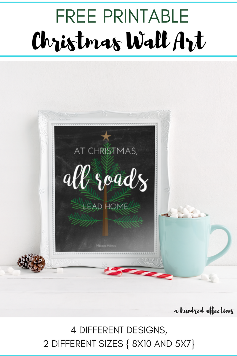 Get Your U201cAt Christmas, All Roads Lead Homeu201d Free Printable Christmas Wall  Art! Available In 4 Different Designs And 2 Sizes (8×10 And 5×7).
