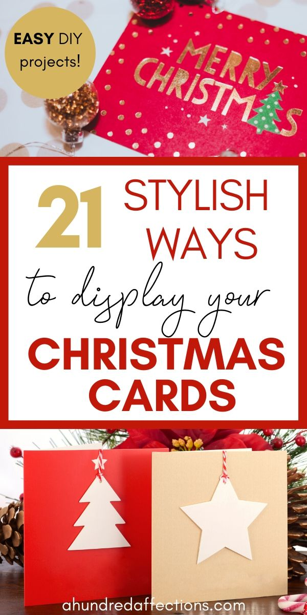 30 Creative Ways To Display Christmas Cards