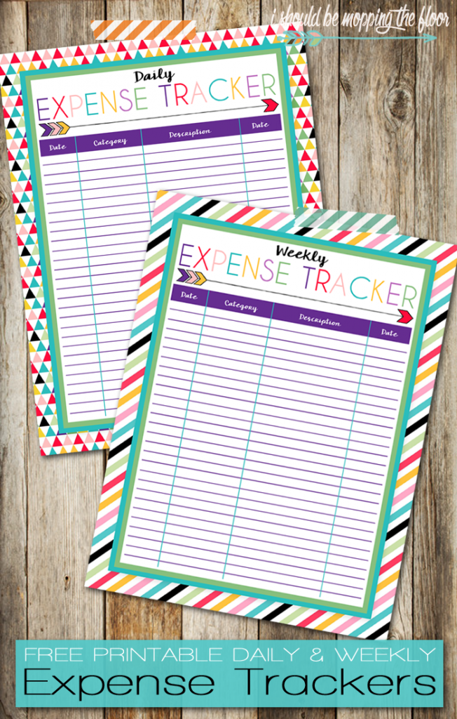 Daily Expense Tracker Free Printables to organize finances
