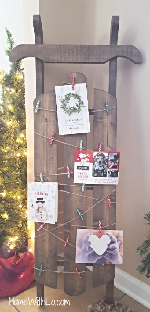 21 DIY Christmas Card Display Holders - A Hundred Affections