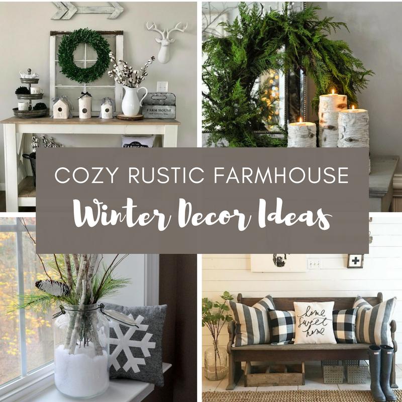 Cozy Winter Home: Cozy Rustic Farmhouse Winter Decor Ideas
