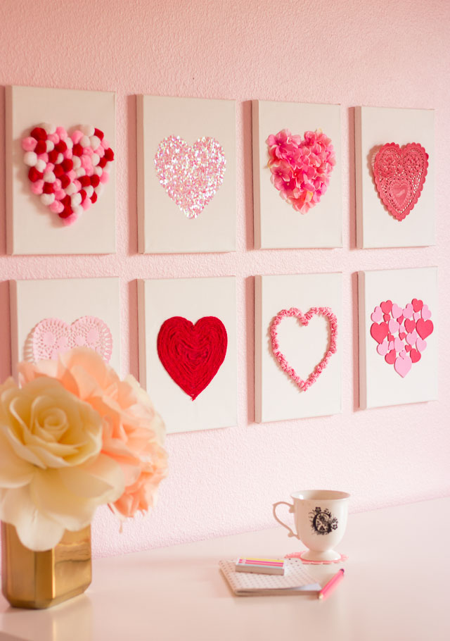 diy heart art design improvised 30 farmhouse inspired valentines day diy decor project - Valentines Day Decor