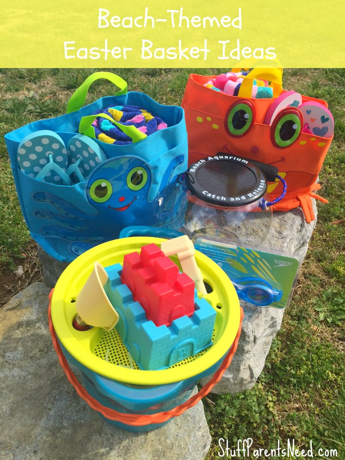 Beach Bag Easter basket - If you are looking for something fun and creative and out of the box to use as Easter basket that is not actually a basket, here are 45 brilliant Easter basket ideas that every kid in your house will love!