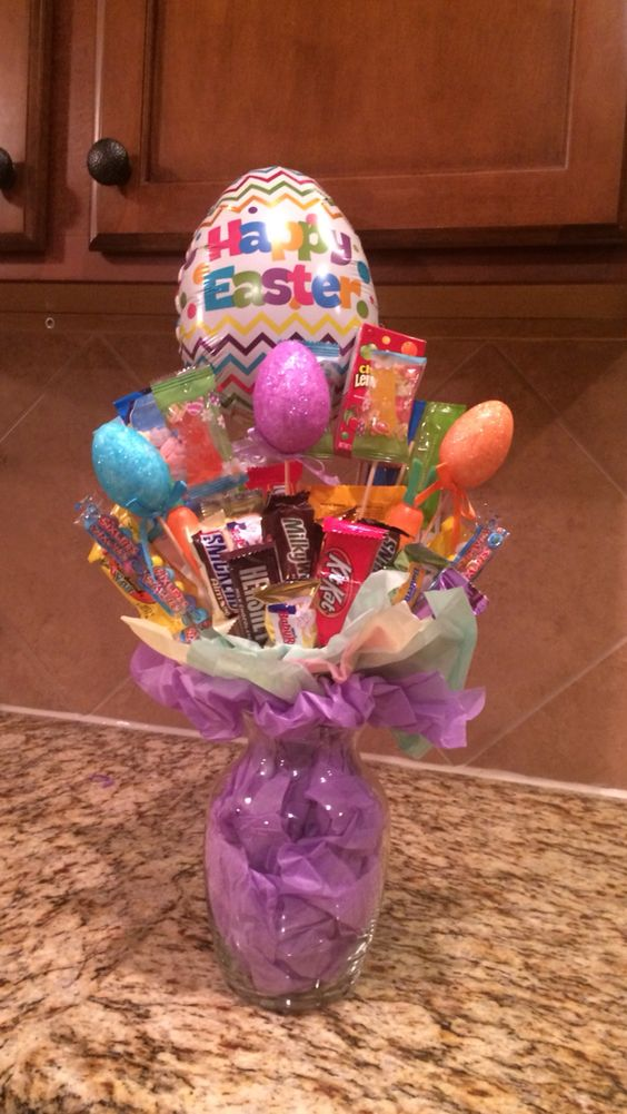 45 creative easter basket ideas that arent actually baskets a 22 bouquet vase easter basket via pinterest negle Image collections