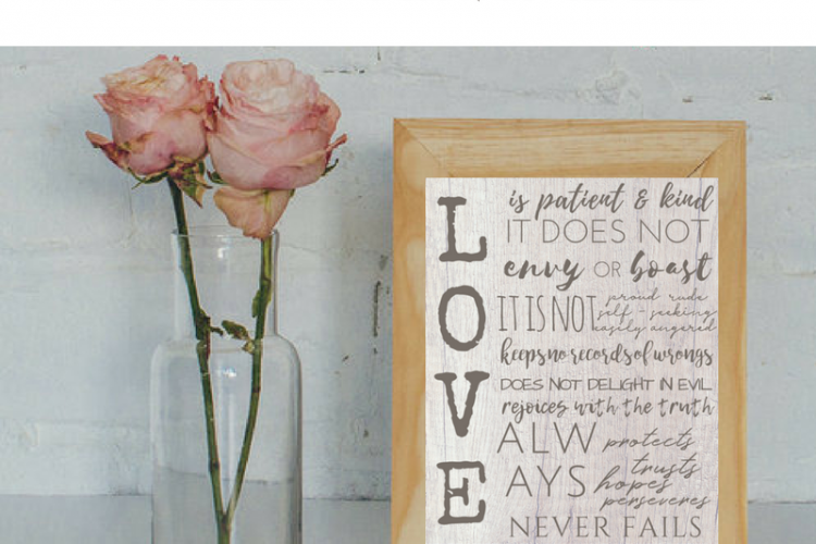 Love is Patient Love is Kind Free Printables
