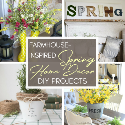 If spring hasn't reached you yet, it's on its way! To have your house spring-ready, check out these beautiful DIY farmhouse home projects!