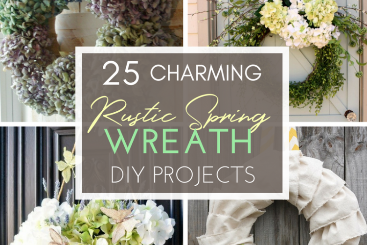 25 Charming Rustic Spring Wreath DIY Projects
