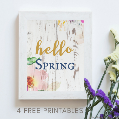 """Oh, Hello Spring"" Free Printable Spring Wall Art"