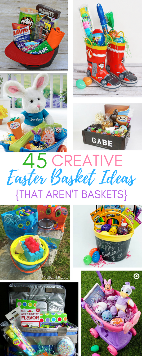 45 creative easter basket ideas that arent actually baskets a ive been looking all over this spring season for some creative ideas for easter baskets ive got no gripe with the traditional easter basket negle Images