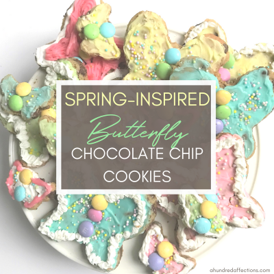 Spring-Inspired Butterfly Chocolate Chip Cookies