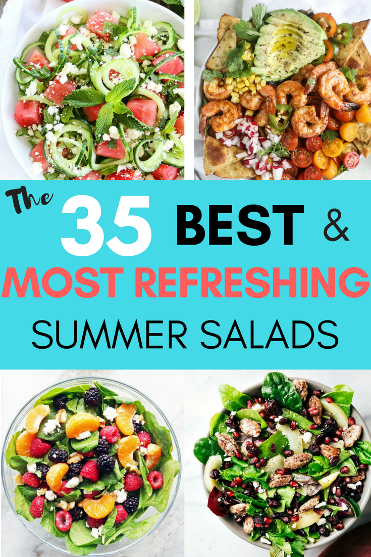 If you are dreading the idea of cooking in a hot kitchen this summer, I've got you covered!  Take a look at these 30 refreshing summer salads! These recipes are easy, healthy and filling!  Keep reading to learn more!