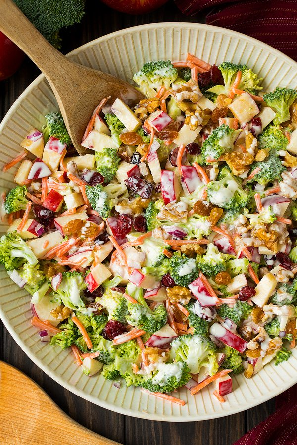 Broccoli Apple Salad Cooking Classy - If you are dreading the idea of cooking in a hot kitchen this summer, I've got you covered!  Take a look at these 30 refreshing summer salads! These recipes are easy, healthy and filling!  Keep reading to learn more!