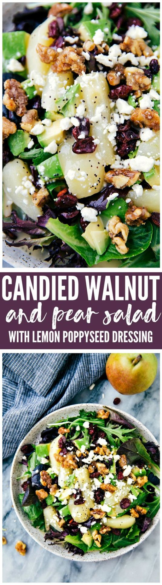 Candied Walnut and Pear Salad the REcipe Critic