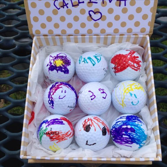 Customized golf balls - I don't if anything warms the heart quite like a homemade gift from your kiddo! Father's Day is no exception - here are 25 homemade Father's Day gifts from kids  - and ones that Dad can actually use!  Keep reading to check them out!