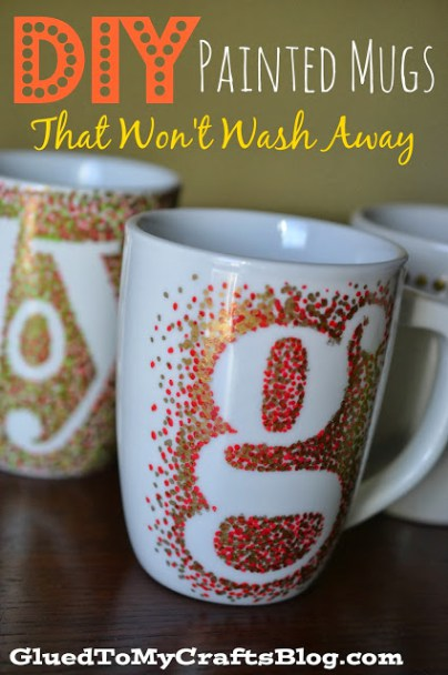 DIY painted mugs for grandma - With Mother's Day right around the corner, we can't forget the special woman who started it all - Grandma! Kids are so fortunate if they have a grandma in their lives. These Mother's Day crafts for Grandma are such a heartfelt way to show her some well-deserved love!