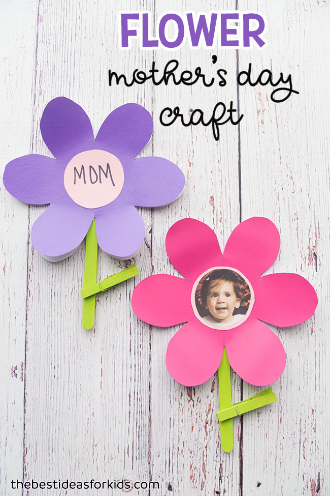paper flower with picture craft for grandma - With Mother's Day right around the corner, we can't forget the special woman who started it all - Grandma! Kids are so fortunate if they have a grandma in their lives. These Mother's Day crafts for Grandma are such a heartfelt way to show her some well-deserved love!