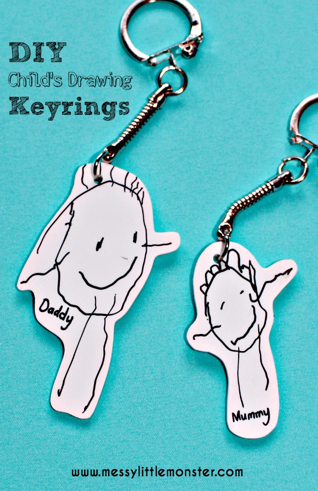 Shrinky Dink Child Art Keyring - I don't if anything warms the heart quite like a homemade gift from your kiddo! Father's Day is no exception - here are 25 homemade Father's Day gifts from kids  - and ones that Dad can actually use!  Keep reading to check them out!