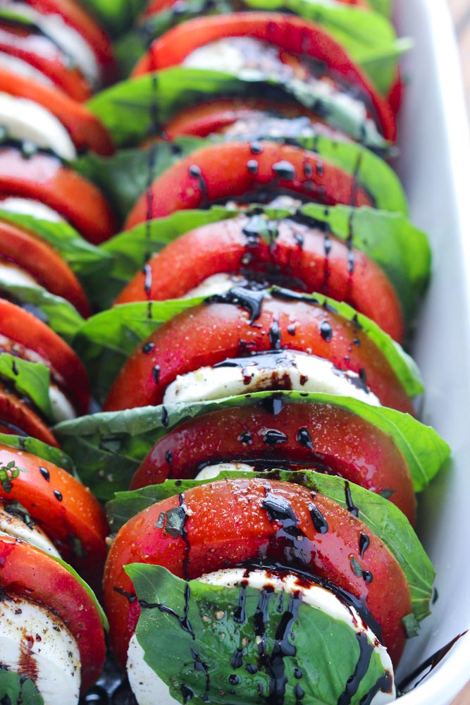 Tomato Mozzarella Salad Little Broken - If you are dreading the idea of cooking in a hot kitchen this summer, I've got you covered!  Take a look at these 30 refreshing summer salads! These recipes are easy, healthy and filling!  Keep reading to learn more!